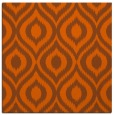 rug #250289 | square red-orange animal rug