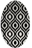 rug #250381 | oval black natural rug