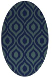 rug #250409 | oval blue animal rug
