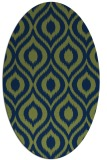 rug #250413   oval rug