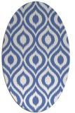 rug #250417 | oval blue animal rug