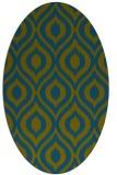 rug #250437   oval green animal rug