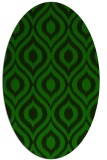 rug #250445 | oval green animal rug