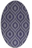 rug #250465 | oval blue-violet animal rug