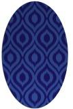 rug #250481 | oval blue-violet animal rug