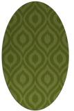 rug #250501 | oval green animal rug