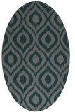 rug #250505 | oval green animal rug