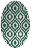 rug #250509   oval green animal rug