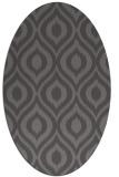 rug #250525 | oval mid-brown natural rug