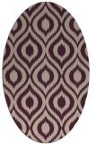 rug #250533 | oval pink natural rug