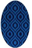 rug #250545 | oval blue animal rug