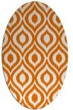 rug #250569   oval orange animal rug