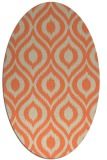 rug #250573 | oval orange natural rug