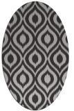 rug #250577 | oval orange rug