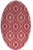 rug #250593 | oval pink animal rug