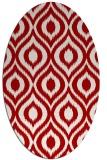 rug #250617 | oval red animal rug