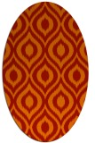 rug #250621 | oval orange natural rug