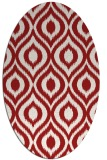 rug #250625 | oval red natural rug