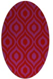 rug #250629 | oval red animal rug