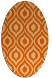 rug #250637 | oval red-orange animal rug