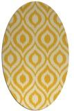 rug #250665   oval yellow animal rug