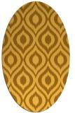 rug #250681 | oval light-orange animal rug