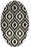 rug #250685   oval black rug