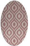 rug #250717 | oval pink animal rug