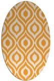 rug #250725 | oval light-orange animal rug