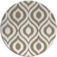 rug #251081 | round white animal rug