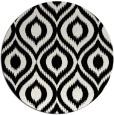rug #251085 | round black natural rug