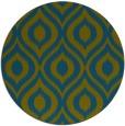 rug #251141 | round blue-green natural rug