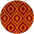 rug #251269 | round red-orange animal rug