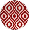 rug #251321 | round red animal rug