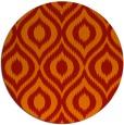 rug #251325 | round red animal rug