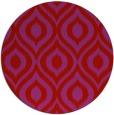rug #251333 | round red animal rug