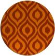 rug #251337   round red-orange animal rug