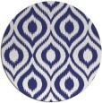 rug #251361 | round blue rug
