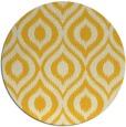rug #251369   round yellow animal rug