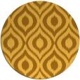 rug #251385 | round yellow natural rug