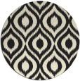 rug #251389 | round black rug