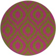 rug #251409 | round pink rug