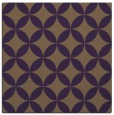 rug #252017 | square mid-brown circles rug