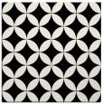 rug #252057 | square black circles rug