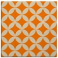 rug #252101 | square orange circles rug