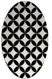 rug #252141 | oval white circles rug