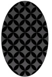 rug #252145 | oval black circles rug