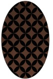 rug #252153 | oval black circles rug