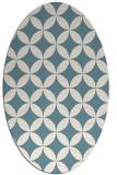 rug #252161 | oval white traditional rug