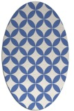 rug #252177 | oval blue traditional rug